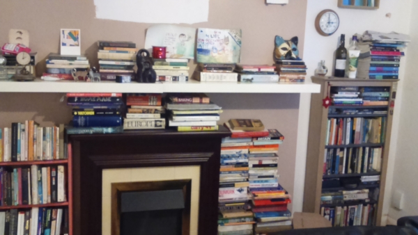 Books at my old flat